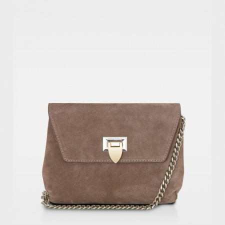 DECADENT Cleva Small Pouch, Suede Nougat