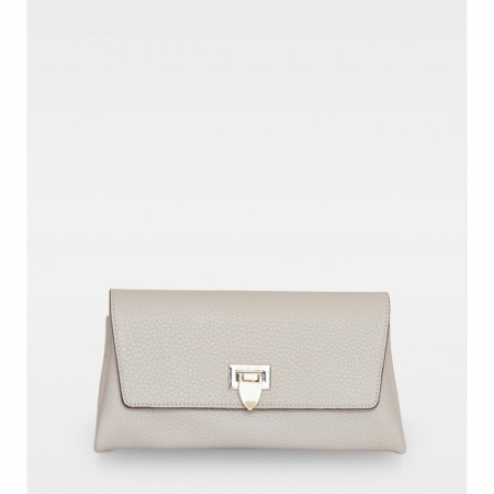 DECADENT Nora Small Clutch, Oat