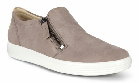 ECCO Soft 7 Lav Glidelås,  Warm grey