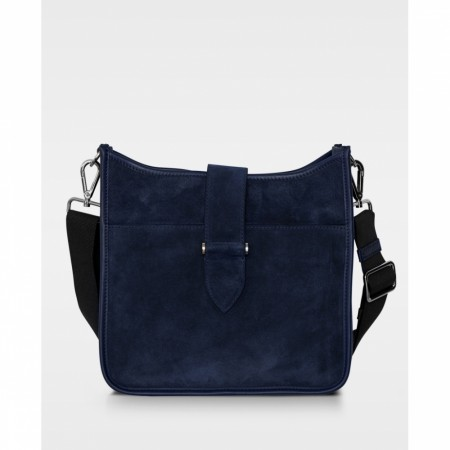DECADENT Bree Small Cross, Suede Navy