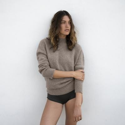 Natura Cashmere Sweater, Taupe