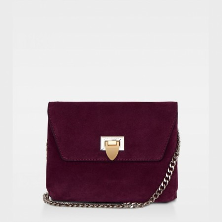 DECADENT Cleva Small Pouch, Suede Oxblood