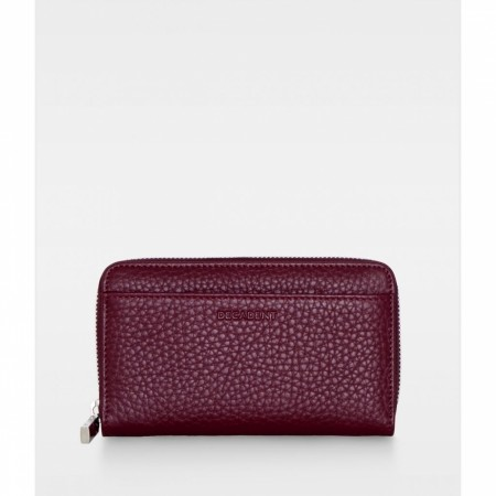 DECADENT Esther Medium Wallet. Oxblood