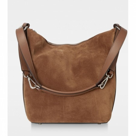 DECADENT Sara Small Shoulder,  Suede Cognac