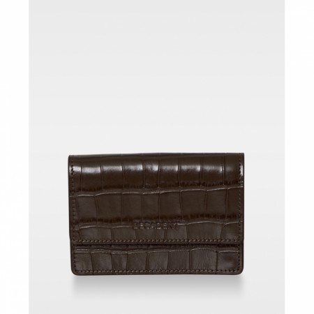 DECADENT Darcy Tiny Wallet, Croco Mocha